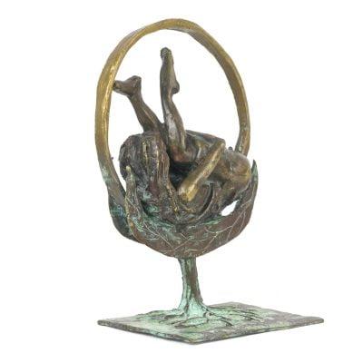 Cosmos, sculpture en bronze (22x15x5cm)