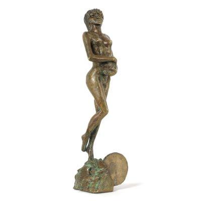 Femme Enceinte Sculpture Bronze Aurelie Moreau 01