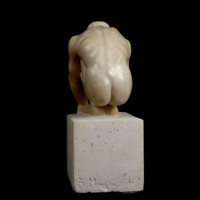Starting block, sculpture en calcaire de Crazanne (50x20x33cm)