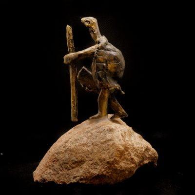 Tortue, sculpture en bronze (16x12x9cm)