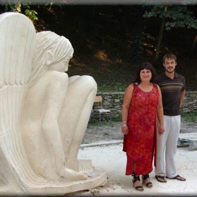 Ange pour la paix, Uzerche 2007,  (xxcm)