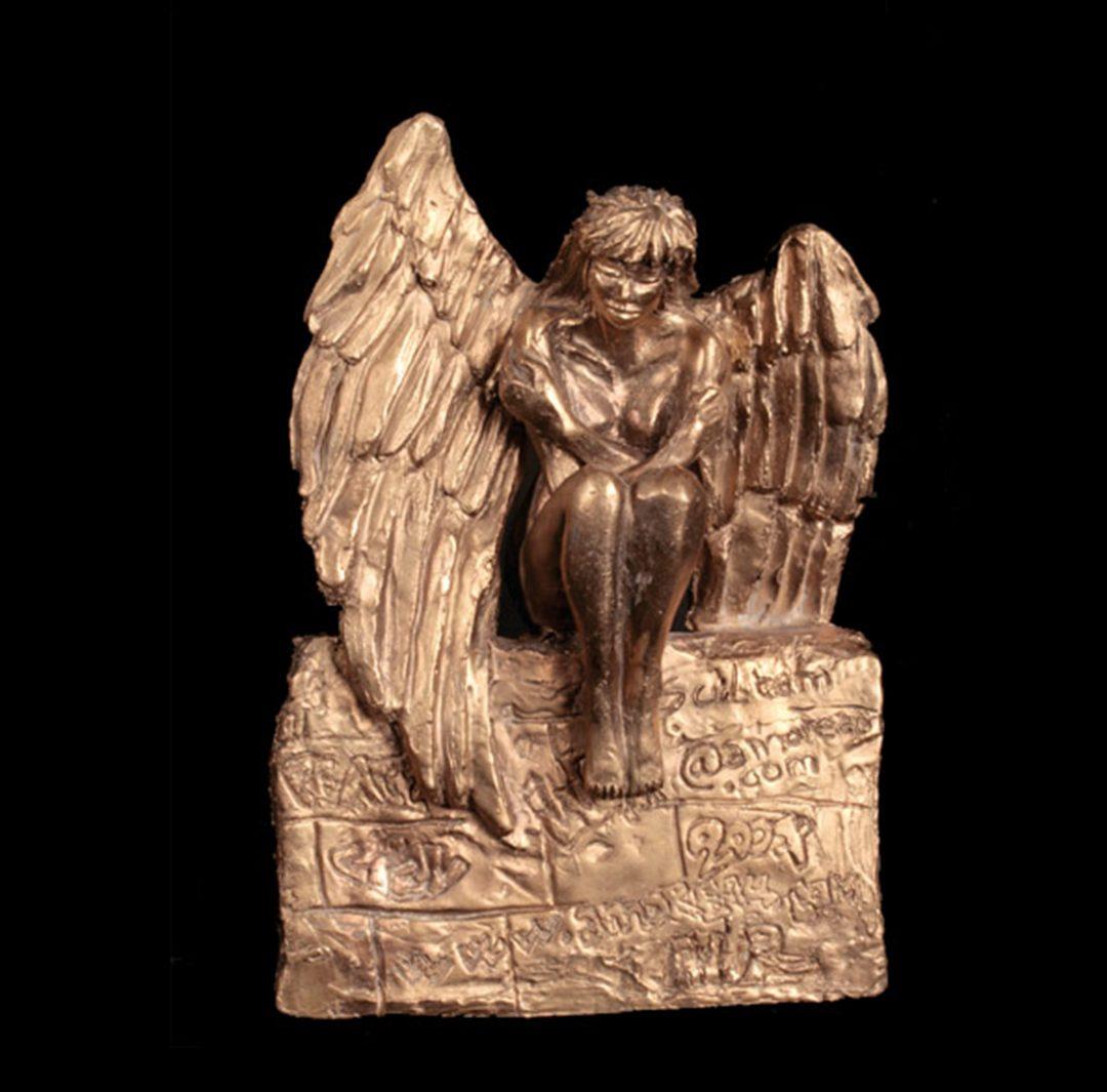 Arrivée de l'ange sur terre