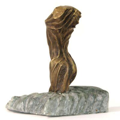 Rayonnement, sculpture en bronze (14x7x10cm)