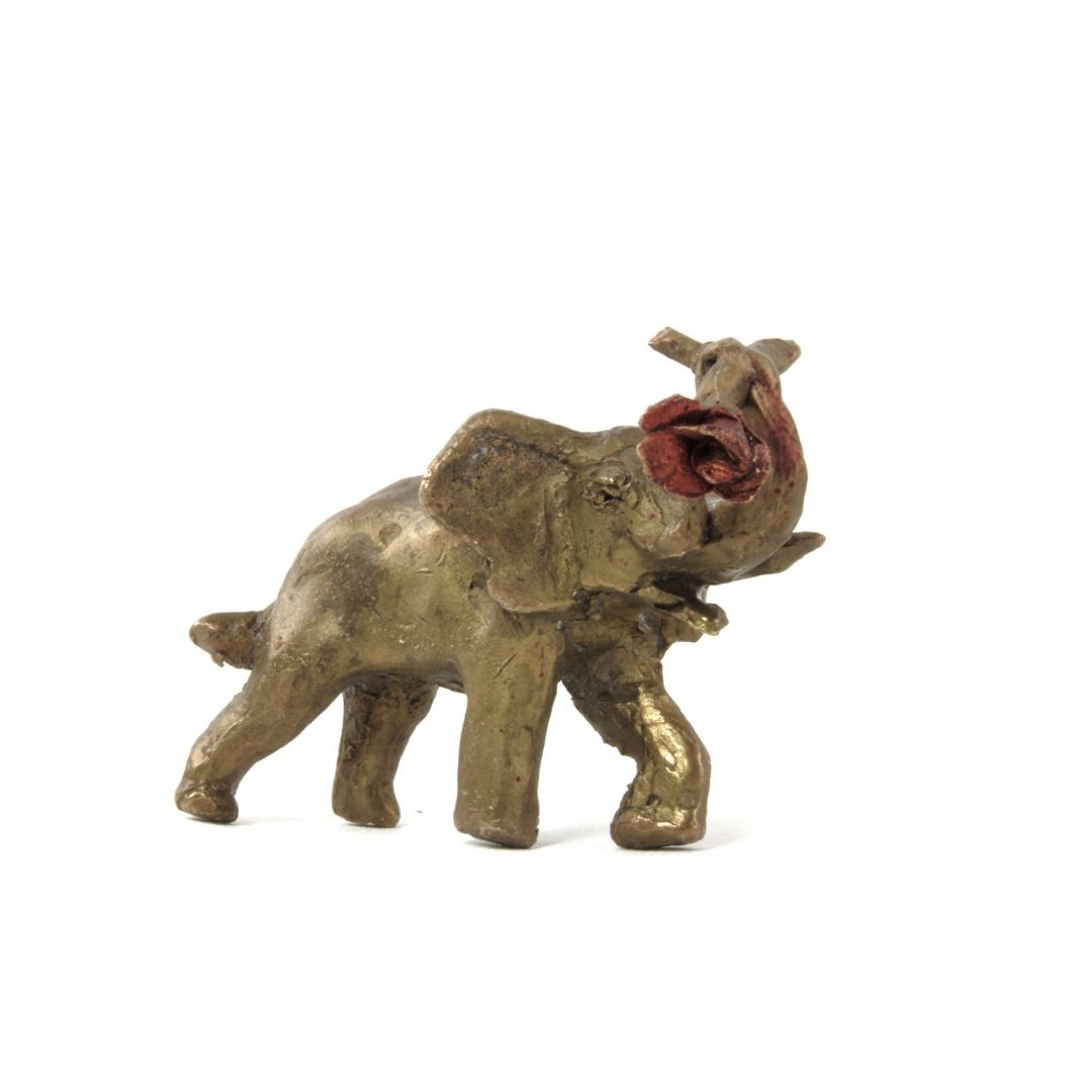 L'éléphant à la rose