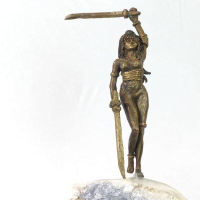 Guerriere Au Sabre Statue Bronze Moreau 00