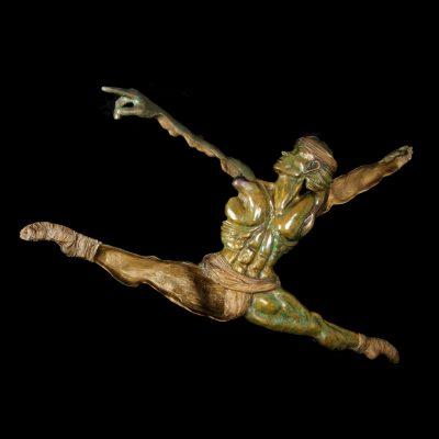 Le Saut De Noureev Sculpture Bronze Aurelie Moreau