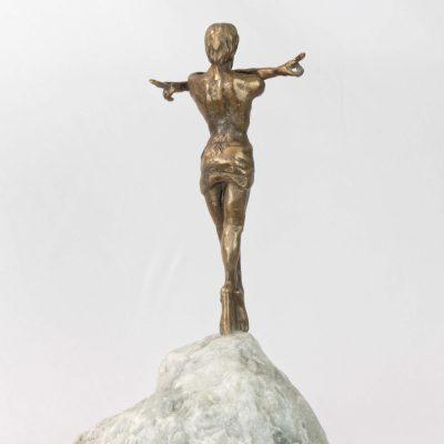 Oz, le pouvoir trompeur, sculpture en bronze (30x8x8cm)