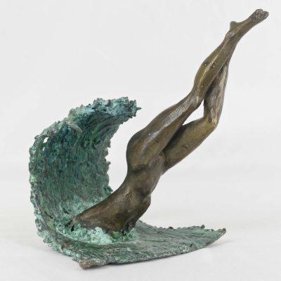 Le plongeon,  (18x17x14cm)