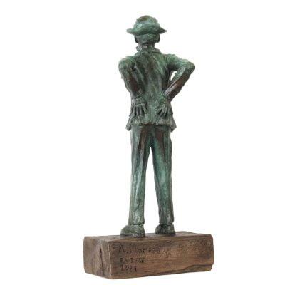 Tati, sculpture en bronze (xxcm)