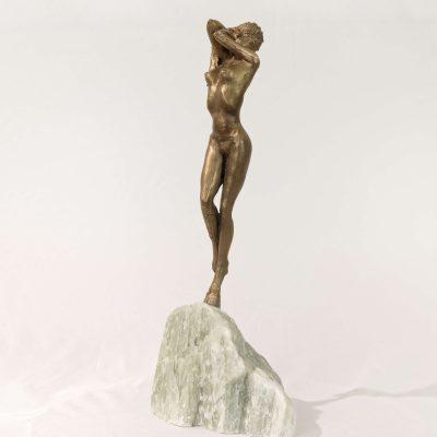 Venus, déesse de la beauté, sculpture en bronze, Stéatite du brésil (33x15x7cm)
